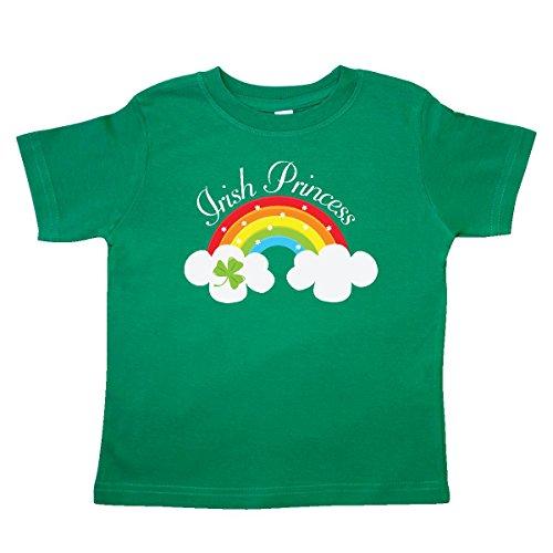 [Inktastic Little Girls' Irish Princess St Patricks Day Rainbow Toddler T-Shirt 2T Kelly Green] (St Patricks Day Shirts For Toddlers)