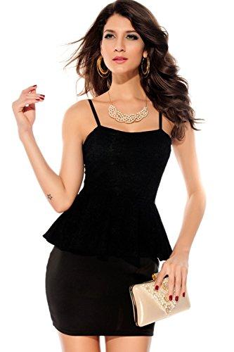 Pinkyee PKY1509150772 - Vestido para mujer Black2