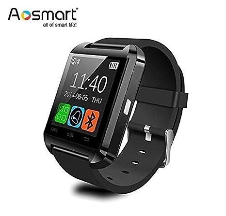 Bluetooth Smart Watch, Aosmart U8 Smartwatch for Android Smartphones - Black