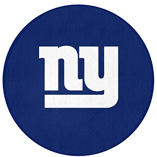 MamaTina Design Colorful Round Doormat New York Giants American Football Team Non-Slip Round Floor Mat Rug Indoor Entrance Bathroom Kitchen Bedroom Home Decor