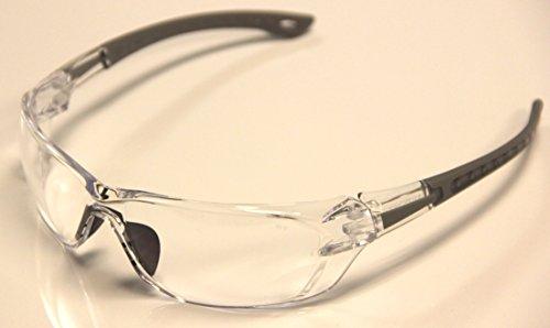 Auras S1800 ANSI Z87+ Clear Lenses Safety Glasses 4 - Lens Glasses Aura