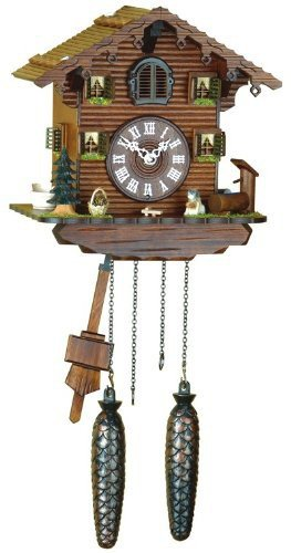 Trenkle Uhren Alemán Reloj de cuco - estilo Chalet - con mecanismo de cuarzo - 22 cm - Auténtico reloj de cuco del bosque negro: Amazon.es: Hogar