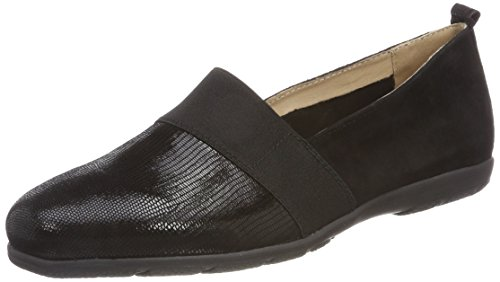 Caprice 24650, WoMen Loafers Black (Black Rep Comb 12)