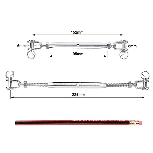1pc M5 Jaw /& Jaw IMAGINE 1pc M5 Wire Rope Tensioner Rigging Screw 304 Stainless Steel Turnbuckle