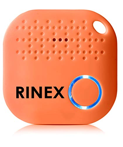 Bluetooth Key Finder Keychain GPS Tracker for Keys with App – Tracking Device for Phone, Keys, Luggage, Backpacks, Wallets, More – Bluetooth Anti-Lost Device Locator Tags – GPS Tracking Chip by Rinex