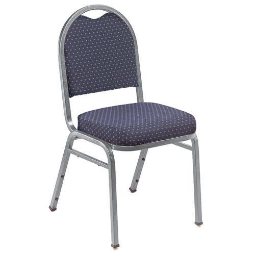 National Public Seating NPS9264SV Dome-Back Stacker Chairs, 9200 Series, 2
