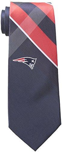 New England Patriots Grid Neck Tie with NFL Football Team Logo