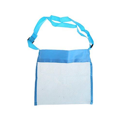 Mesh Collection Bag (SELFON Portable Kids Sand Away Mesh Beach Bag Shell Collection Carrying Toys Storage -Blue)