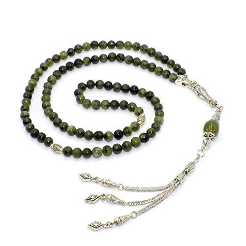 - Taiwan Green Jade Stone Prayer Beads (6 mm 99 Beads) Tesbih-Tasbih-Tasbeeh-Misbaha-Masbaha-Subha-Sebha-Sibha-Worry Beads