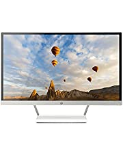 HP Pavilion 27xw 27-inch Full HD 1080p IPS LED Monitor with VGA and HDMI Ports (V0N26AA#ABA) - White & Silver
