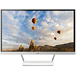 HP Pavilion 27-inch FHD IPS Monitor with LED Backlight (27xw, Snow White and Natural Silver)