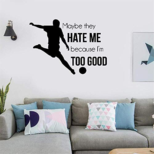 (Kerta Vinyl Wall Decal Wall Stickers Art Decor Peel and Stick Mural Removable Decals Maybe They Hate Me Because I'm Too Good for Boys Room)
