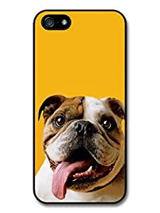Funny English Bulldog With Big Tongue case for iPhone 5 5S A2928