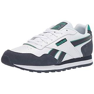 Reebok mens Reebok Classic Harman Run Sneaker, White/Heritage Navy/Emerald, 15 US