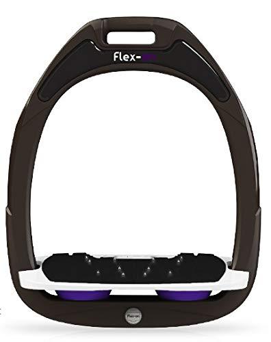 【 限定】フレクソン(Flex-On) 鐙 ガンマセーフオン GAMME SAFE-ON Mixed ultra-grip フレームカラー: ブラウン フットベッドカラー: ホワイト エラストマー: パープル 07309   B07KMPRNW5