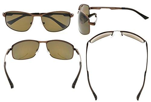 Eyekepper Lunettes de soleil Metal monture verres en Polycarbonate verres  Polarisees lunettes soleil pour hommes femmes ... 93582c5b2ea0