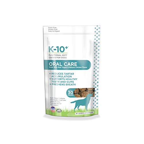 K-10+ Dental Supplement Chews for Dogs, Oral Care Functional Soft Chews for Dogs - 30 ct. Pouch