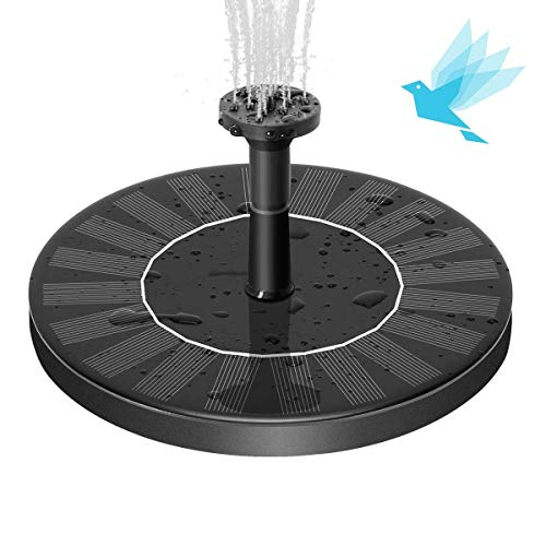 SEAST Solar Fountain, New Upgraded Solar Bird Bath Fountain Pump Floating 1.4W Solar Panel Kit Outdoor Watering Submersible Pump for Garden, Pond, Pool, Fish Tank, Aquarium (New Aquarium)