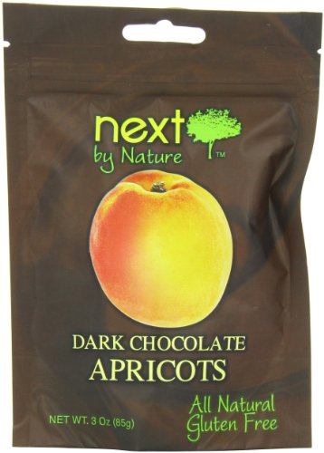 Next by Nature Dark Chocolate, Apricots, 3 Ounce (Pack of 12)