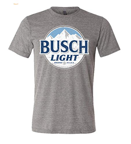 Brew City Beer Gear Busch Light Short Sleeve T-Shirt-Deep Heather-Large