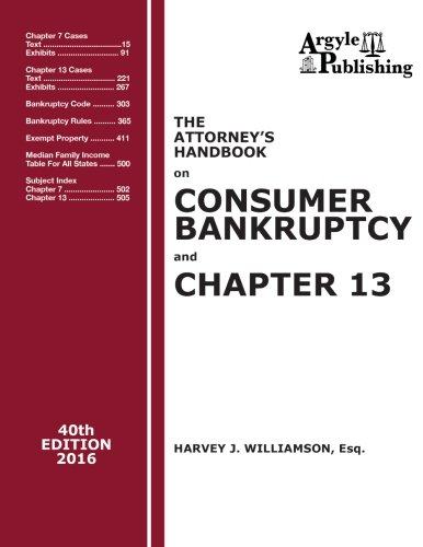 Attorney's Handbook On Consumer Bankruptcy & Chapter 13