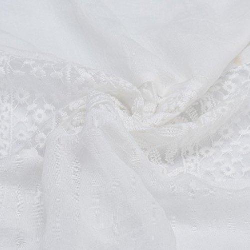 Chemisimer Femme, Koly 1PC Femmes Sexy Encolure Casual Top Femme Chic Blouse Dentelle Crochet Chiffon Shirt Dentelle