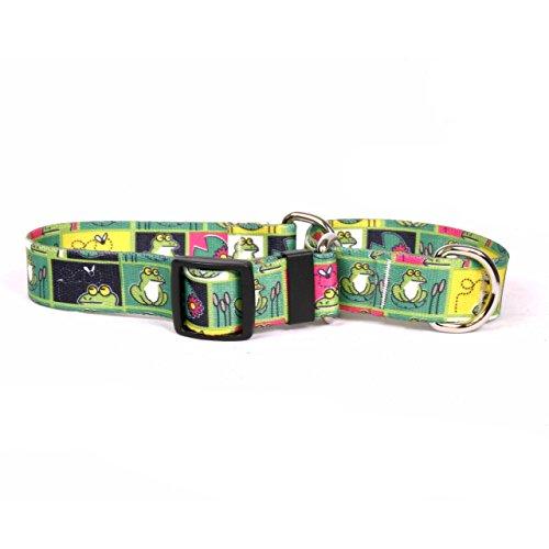 Yellow Dog Design Frogs Martingale Dog Collar 1