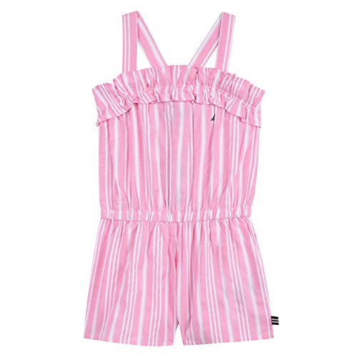 (Nautica Toddler Girl's Fashion Romper Dress, pastel pink oxford, 2T)