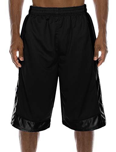 NE PEOPLE Mens Comfy Regular Fit Plain Mesh/Heavy Mesh Basketball Short Pants S-7XL