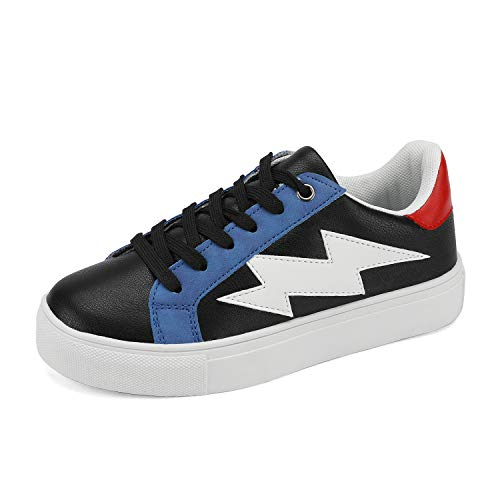 DREAM PAIRS Boys Girls Lace-up Fashion Sneakers Shoes