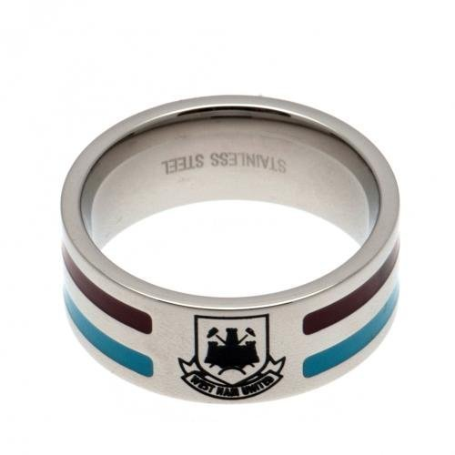 West Ham United F.C. Colour Stripe Ring Medium Official Merchandise by West Ham United F.C. by West Ham United F.C.