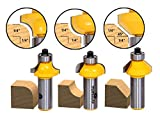 Yonico 13310 1/4-Inch 3 Bit Edge Forming Router Bit