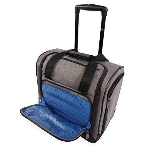 41rkUJy8e7L - ORIGINAL PENGUIN Men's Ethan Wheeled Under The Seat Carry On Bag, Grey Crosshatch