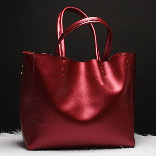 GUANGMING77 _Tasche Tasche Große Handtasche Claret