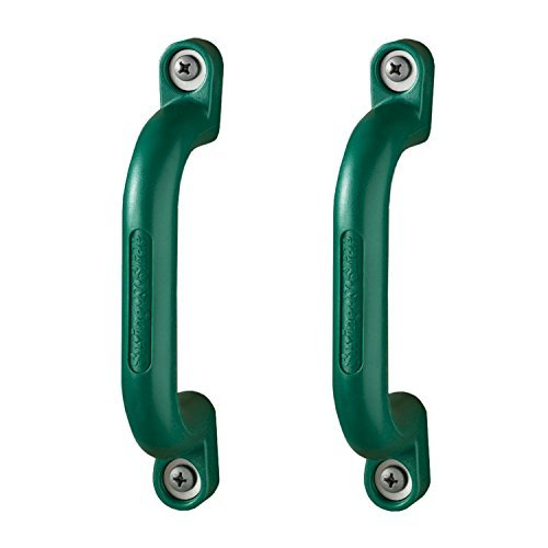 (Pair of Green Playground Safety Handles by Swing-N-Slide)
