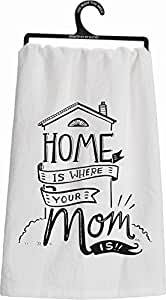 Primitives By Kathy Tea Towel - Where Mom Is
