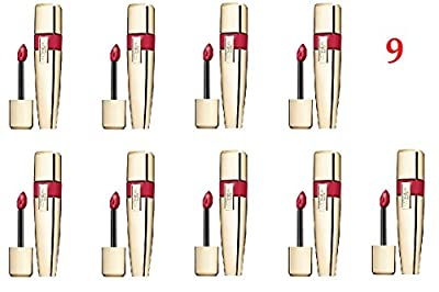 (Pack of 9) - VALUE PACK! - L'Oreal Paris Colour Caresse Wet Shine Lip Stain, 190 Endless Red - 0.21 Ounces each