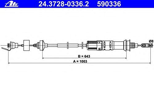 ATE 24372803362 Câ ble de commande d'embrayage 24.3728-0336.2