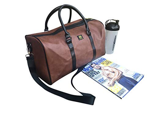 c179970fa8ad Soft Travel And Sports Gym Leather Duffle Bag 40L by Dapper Dashy ...