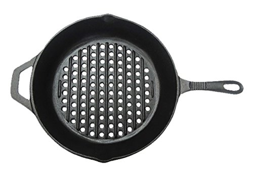 Mr.BarBQ 08106X Round Grill Pan, Cast Iron