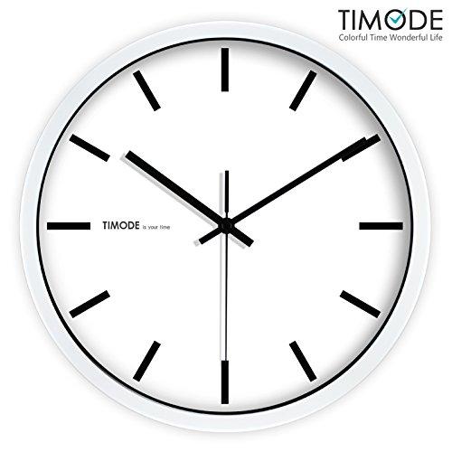 VariousWallClock Wall clock household pendulum clocks Silent minimalist stylish classic quartz clock living room graduated white metal clock 12 inches white ...