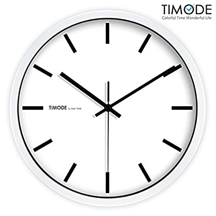 VariousWallClock Wall clock household pendulum clocks Silent minimalist stylish classic quartz clock living room graduated white