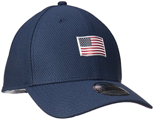 New Era Cap Men's Patriotic Pick USA Stretch Fit Hat, Blue, (New Era Stretch Cap)