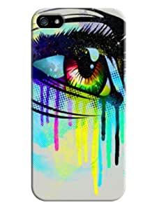Sangu Tears Hard Back Shell Case / Cover for Iphone 5 and 5s-Pastel Gray