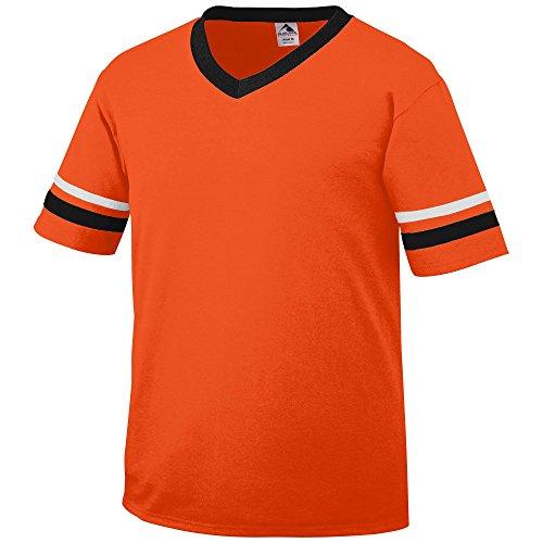 Augusta Sportswear Sleeve Stripe Jersey  Large  Orange Black White