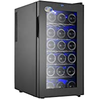 Electro Boss | 18 Bottle Thermoelectic Wine Cooler | Black | Beverage Refrigerator | Door Opens to the Right