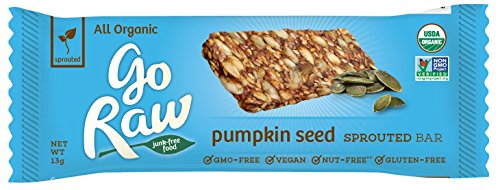 - Go Raw Organic Superfood Sprouted Bar, Pumpkin Seed (case of 10 small bars)