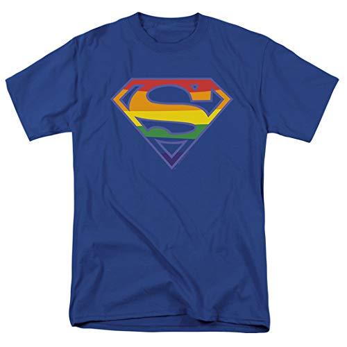 Superman Rainbow Pride Logo T Shirt & Stickers (X-Large)