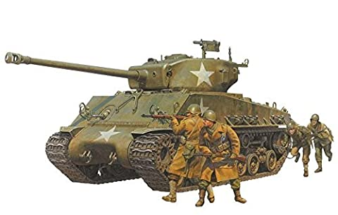 Tamiya 1/35 scale limited series the United States Army Tank M4A3E8 Sherman Easy Eight doll with 4-body plastic model (M4a3e8 Tank Model)