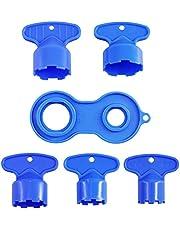 MOJOO 5 stuks kraan beluchter sleutels 1 stuk Strooi Kraan Beluchter Tool Sleutel voor M16.5, M18.5, M21.5, M22.5, M24 cache beluchter sleutel gootsteen